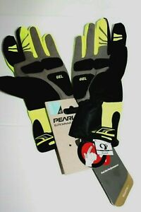 Pearl Izumi ELITE Softshell Gel Gloves Men Small Yellow Road Bike Cool Weather