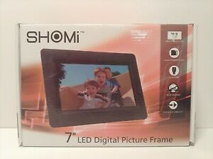 "SHOMi 7"" LED Digital Picture Frame Brand New, Plug & Play No PC Required-New. F2"