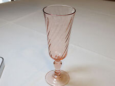 Vintage Peach to pink Swirl Champaign Glass France stemmed mimosa beautiful #