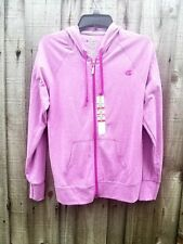 Champion Purple Hoodie Full Zip Jersey Jacket Size Medium