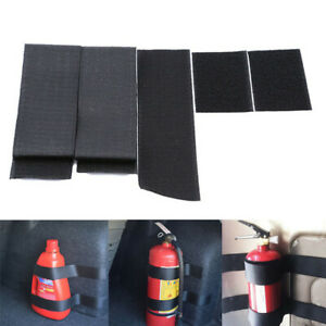5x Car Trunk store content bag Rapid Fire extinguisher Holder Safety Strap Kit