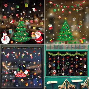 Christmas Xmas Santa Removable Window Stickers Art Decal Wall Home Shop Decor*