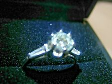 GIA Certified Diamond 1.00 Carat   Platinum Round Ring $4870 Si1 Size 7.5-7/75