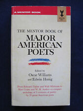 MAJOR AMERICAN POETS - SIGNED by OSCAR WILLIAMS to His Publisher, 1st PB Edition