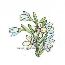 yellow and blue flower Temporary Tattoo small size