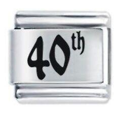 40th Anniversaire Charms Marguerite compatible avec Nomination