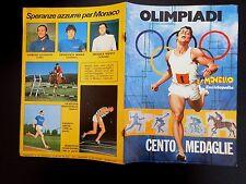 MONELLO ALBUM FIGURINE OLIMPIADI CENTO MEDAGLIE ALLEGATO AL n° 29 DEL 1972