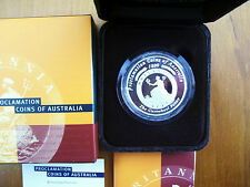 "2000 $1 Silver Proof Coin: ""Proclamation."""