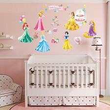 Disney Princess Kid Wall Art Decal Vinyl Stickers Home Girls Nursery Decor Mural