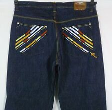 Men's Rocawear Baggy Jeans Size 39 x 32.5 Embroidered! EUC! Intl Yes!