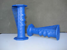 NOS COBRA STYLE CASSANO OLD SCHOOL BMX GRIPS (ITALY) 2 Colours BLUE OR YELLOW