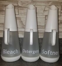 Grove Collaborative Set of 3 Glass Laundry Dispenser Used With Labels