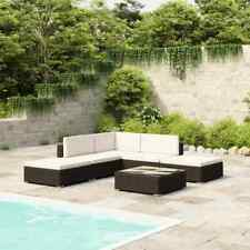 vidaXL Outdoor Lounge Set 15 Pieces Black Poly Rattan Garden Furniture Seat