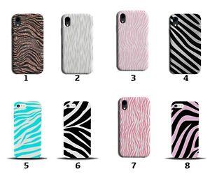 African Zebra Stripes Phone Case Cover Striped Rose Gold Pink Glitter Zoo 8167