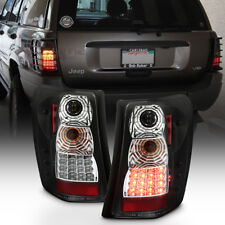 1999-2004 Jeep Grand Cherokee Black Philips LED Tail Lights Lamps Left+Right