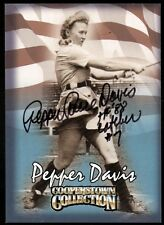 1998 HASBRO COOPERSTOWN PEPPER DAVIS AUTOGRAPH CARD AAGPBL LEAGUE OF THEIR OWN