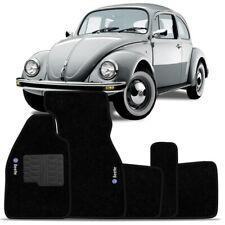 VW Classic Bug Old Beetle Embroidery INTERIOR CARPET FLOOR MAT LOGO BLACK Set LH