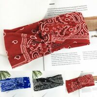 Stirnband Haarband Damen Hair Bands Bandana Stretch Bandana Yoga Sport Knoten
