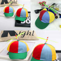 Adjustable Propeller Ball Baseball Cap Hat Multi-Color Clown Costume Canvas