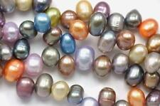 5-6mm Lilac Blue Mixed Colour Rice Teardrop Head-drilled Freshwater Pearls