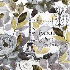 4x Carta Tovaglioli per Decoupage Decopatch Craft Jardin Paris