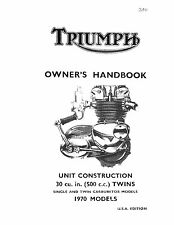 Triumph Owners Manual Book 1970 Daytona T100R & Trophy T100C