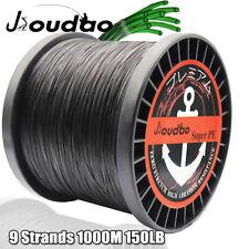9 strands 1000M Braided Fishing Line 100LB Super Strong PE Braid Line Black