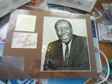 d1976 age43 Godfrey Cambridge auto RARE 11x14 matted display autographed signed
