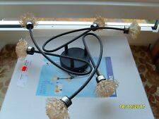 Näve 1147214 -Wandleuchte Deckenleuchte Deckenlampe Zimmerlampe Glas Braun Blume