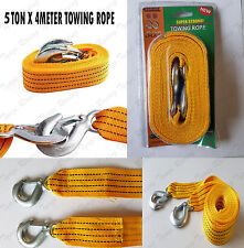 5TON 5T X 4METER Tow Towing Pull Rope Strap Heavy Duty Road Recovery Car Van