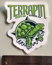 "Terrapin Beer Co 4.5"" x 5"" Die Cut Turtle STICKER Decal Craft Beer Athens GA"
