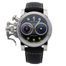 Graham Chronofighter R.A.C LE Auto 43mm Steel Mens Strap Watch 2CRBS.B05A.K25B