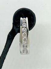 POPULAR 1CT CARAT GENUINE DIAMOND HUGGIES HOOP EARRINGS 10K GOLD BNWT VAL $6,340