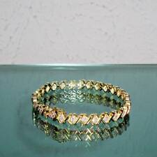 NEW 1 CT TDW DIAMOND GOLD TONE X TENNIS BRACELET