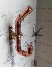 Copper pipe coat hook, bathroom hook, towel hook