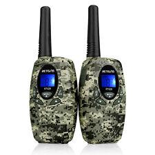 2pcs Mini Two Way Radio Retevis RT628 0.5W 8CH Walkie Talkie for Kids Camouflage