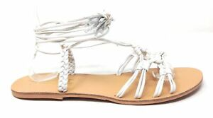 Nanette Lepore Womens June Gladiator Lace Sandals Ice Size 8.5 M US