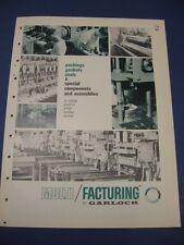 GARLOCK 1965 Catalog BLUE ASBESTOS Thermoplastics Guardian Chemiseal Gaskets