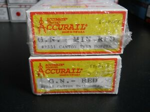 2 ACCURAIL KITS GREAT NORTHERN CANTON TWIN HOPPERS NIB