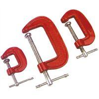 SET 3 MORSETTI A C IN GHISA da 25/50/75 mm stringenti per modellisti HAND