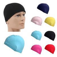 Adult Unisex Men Women Lycra Fabric Elastic Beach Pool Swimming Cap Bathing Hat