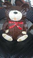 """Vintage Otagiri Brown Bear 10"""" Cookie Jar"""