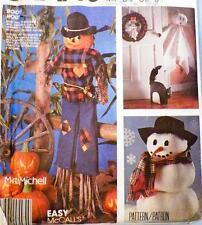 Halloween Christmas Craft Pattern Scarecrow Ghost Pumpkin Wreath Garland Sewing
