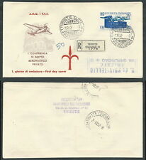 1952 TRIESTE A FDC ICAO TIMBRO DI ARRIVO - BF-3