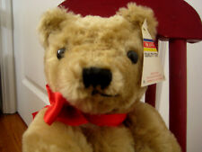 "Mohair Teddy Bear Dean's quality toy 14"" Made in Great Britain"