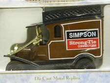 OXFORD Diecast 1/43 Vintage British Delivery Panel Truck Brown w Collector Box//