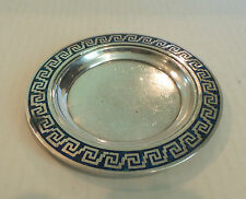 "TAXCO MEXICO STERLING SILVER with INLAID LAPIS STONE DESIGN, SIGNED ""LEDESMA"""