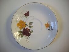 Alfred Meakin GLO-WHITE - Red & Yellow Rose Pattern - Saucer - GC - Vintage