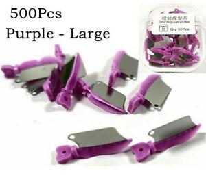 500Pcs Dental Fender Interproximal Wedges Matrix Blade Guard w Metal Large 134°C