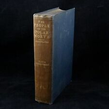 The People of the Polar North 1st Ed 1908 by Knud Rasmussen Signed + 3 photos